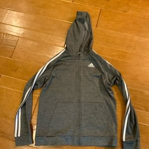 Boys Adidas Zip up Hoodie Jacket